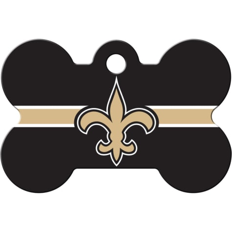 Quick-Tag New Orleans Saints NFL Bone Personalized Engraved Pet ID Tag, Large