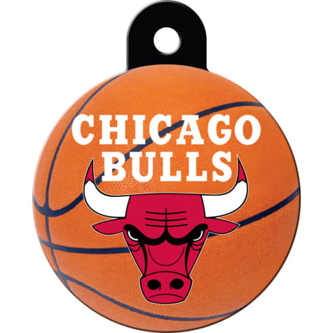 Quick-Tag Chicago Bulls NBA Circle Personalized Engraved Pet ID Tag, Large