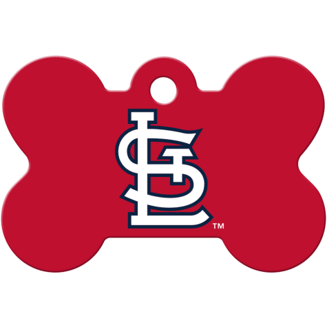 Quick-Tag St. Louis Cardinals MLB Bone Personalized Engraved Pet ID Tag, Large