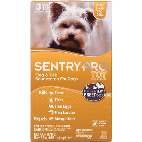 Sentry Pro Squeeze-On Toy & Small Breed Dogs 4 to 10 lbs. Flea & Tick Treatment