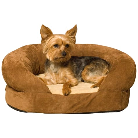 K&H Orthopedic Bolster Sleeper Dog Bed in Mocha