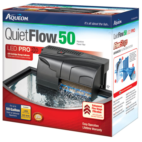 Aqueon QuietFlow 50 Aquarium Power Filter