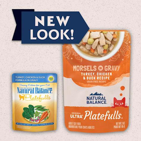 Natural Balance Platefulls Turkey, Chicken & Duck Formula in Gravy Adult Wet Cat Food