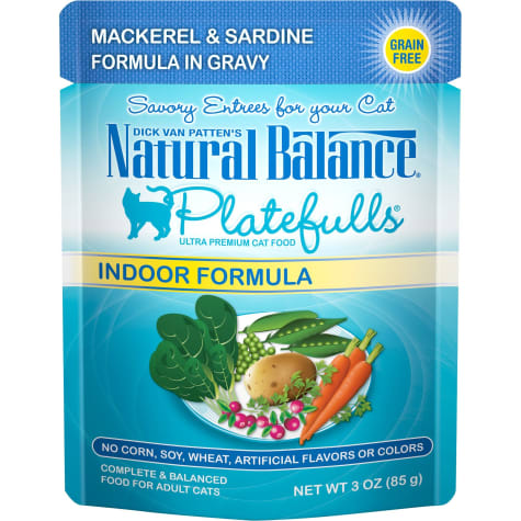 Natural Balance Platefulls Mackerel & Sardine in Gravy Indoor Formula Adult Wet Cat Food