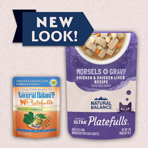 Natural Balance Platefulls Chicken & Chicken Liver in Gravy Indoor Formula Adult Wet Cat Food