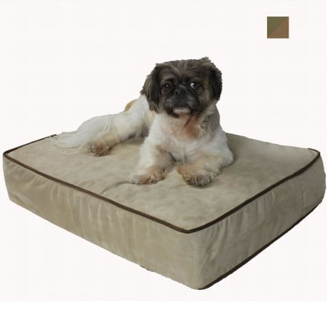 Snoozer Outlast 5 Inch Sleep System Olive & Coffee Dog Bed