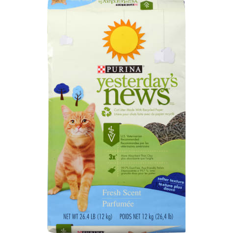 Purina Yesterday's News Paper Fresh Scent Low Tracking Cat Litter