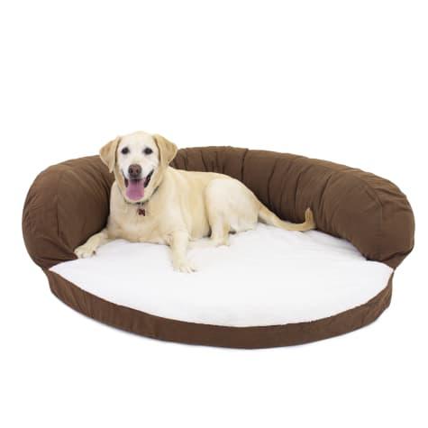 Carolina Pet Company Chocolate Brown Orthopedic Bolster Personalized Dog Bed