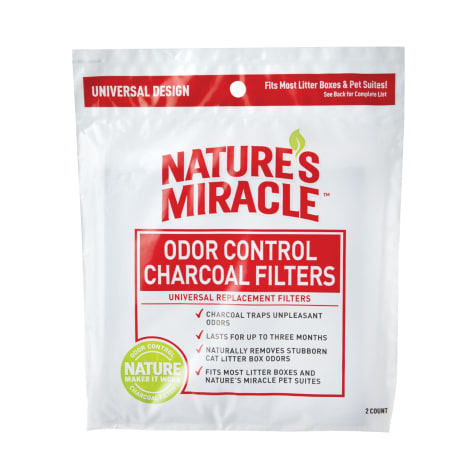 Nature's Miracle Odor Control Charcoal Filters Universal Replacement for Cats