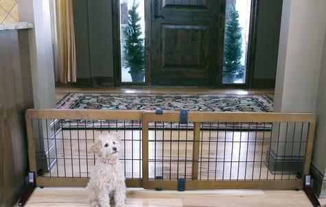 Carlson Pet Products Design Studio Wood Deco Pet Gate