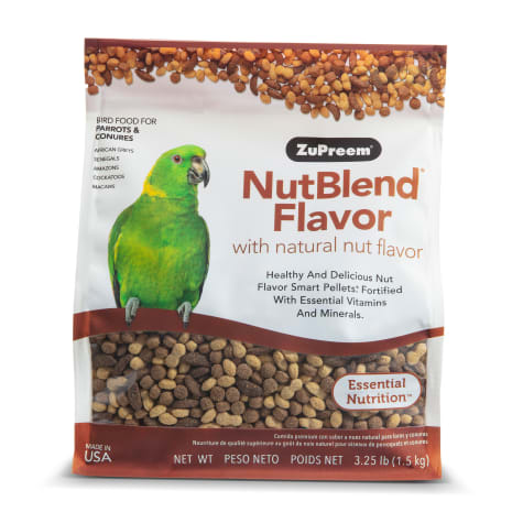 ZuPreem AvianMaintenance NutBlend Premium Bird Diet for Medium & Large Birds
