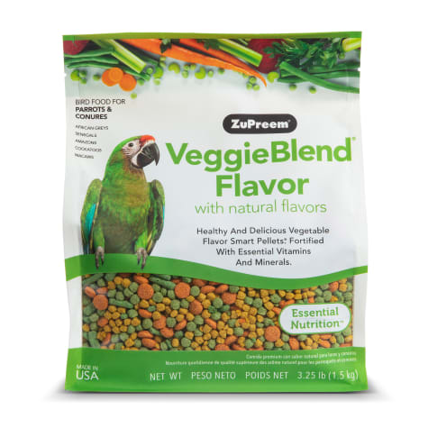 ZuPreem AvianMaintenance VeggieBlend Premium Bird Diet for Medium & Large Birds
