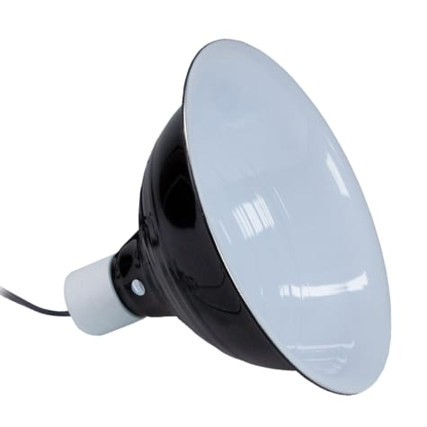 Zilla Black Reflector Dome Lamp, 8.5