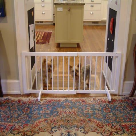 Cardinal Gates White Step-Over Pet Gate