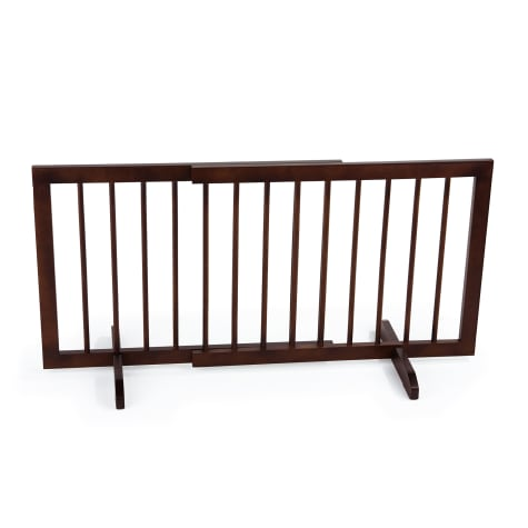 Cardinal Gates Walnut Step-Over Pet Gate