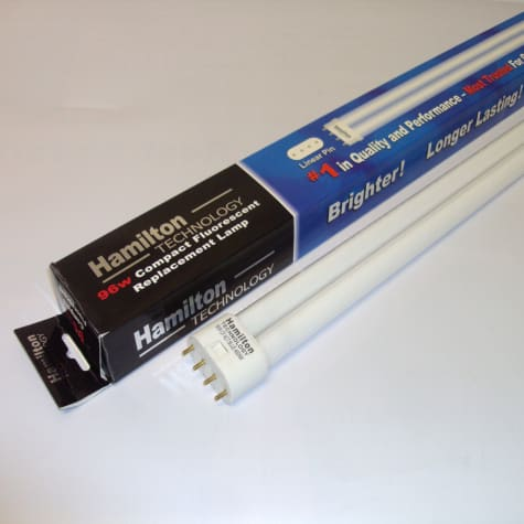Hamilton Technology Compact Actinic Royal Blue 460nm Linear Pin Aquarium Lamp, 96 Watts