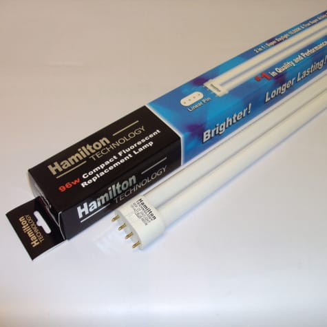 Hamilton Technology Compact 2-in-1 Blue & Daylight 460nm Blue/10K White Linear Pin Aquarium Lamp, 96 Watts
