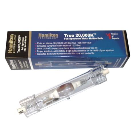 Hamilton Technology Metal Halide HQI 150W 20,000K Double Ended Aquarium Light Bulb, 150 Watts