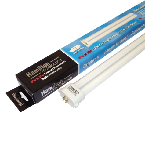 Hamilton Technology Compact Fluorescent 10,000K Super White Square Pin Aquarium Lamp, 96 Watts