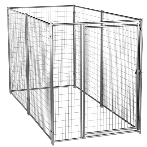 Lucky Dog Best in Show Silver Modular Welded Wire Kennel