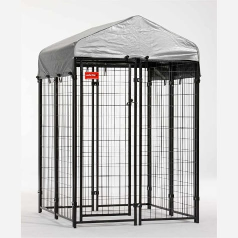 Lucky Dog Uptown Welded Wire Kennel w/Cover and Frame