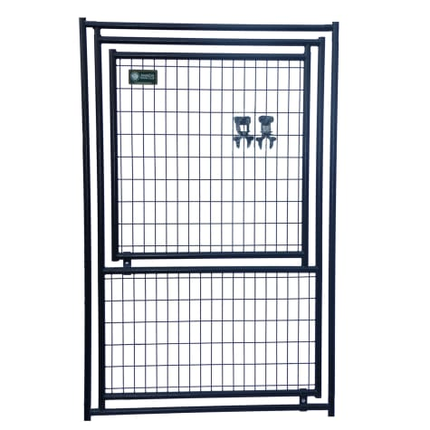 Lucky Dog Black Welded Wire Gate in Gate