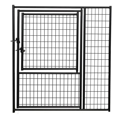 Lucky Dog Black Welded Wire Modular Gate in Gate