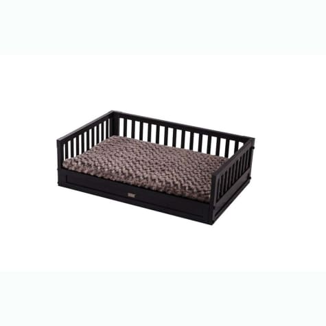 New Age Pet Eco-Concepts Espresso Bunk Bed with Cushion Raised Dog Bed