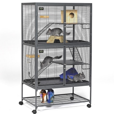 Midwest Critter Nation Double Unit with Stand Small Animal Cage