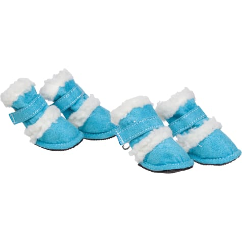 Pet Life Blue Shearling Paw Wear for Dogs
