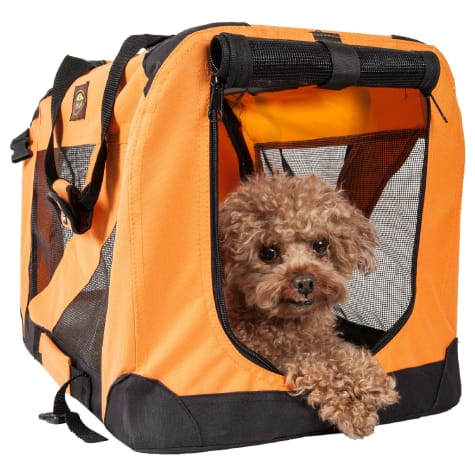 Pet Life Folding Zippered 360 Degree Vista View House Pet Crate in Orange