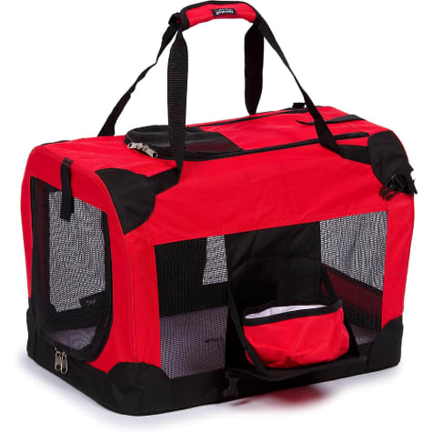 Pet Life Folding Deluxe 360 Vista View House Carrier in Red