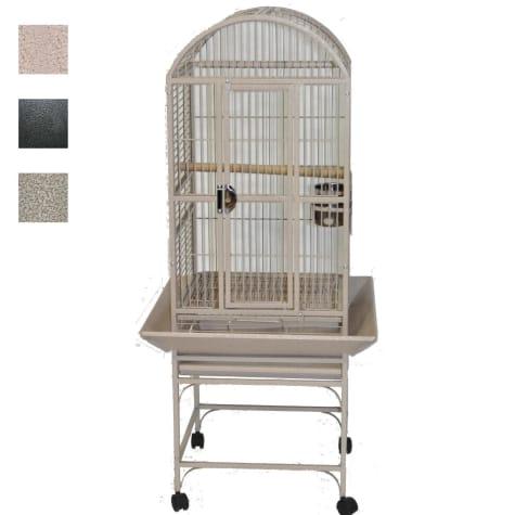 A&E Cage Company Classico Dometop Small Bird Cage in Platinum