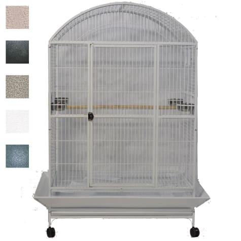 A&E Cage Company Platinum Macaw Mansion Enormous X-Large Dometop Bird Cage