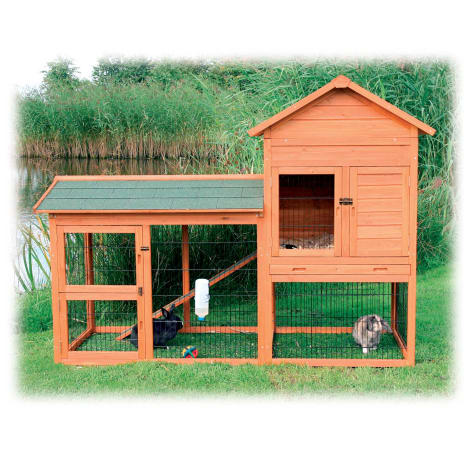 Trixie Natura Two Story Rabbit Hutch with Large Run