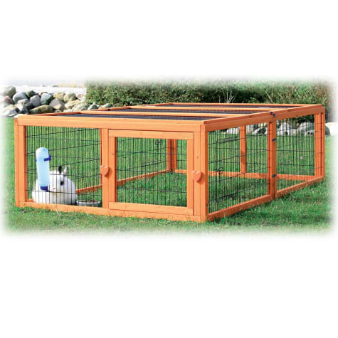 Trixie Natura Flat Roof Outdoor Rabbit Run