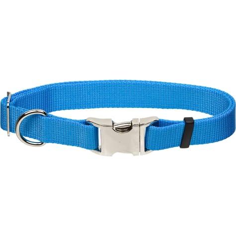 Coastal Pet Metal Buckle Nylon Adjustable Personalized Dog Collar in Light Blue