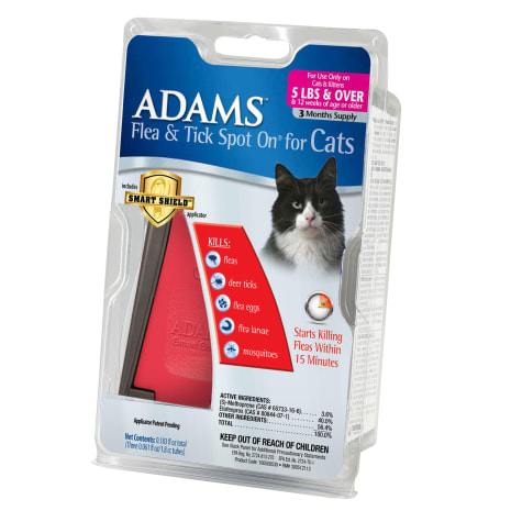 Adams Flea & Tick Spot On with Smart Shield Applicator for Cats & Kittens Over 5 lbs.