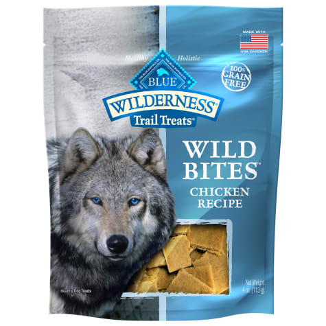 Blue Buffalo Blue Wilderness Trail Treats Chicken Wild Bites Dog Treats