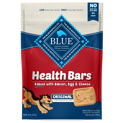 Blue Buffalo Blue Health Bars With Bacon, Egg & Cheese Dog Treats