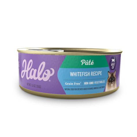 Halo Grain Free Indoor Whitefish Recipe Wet Cat Food