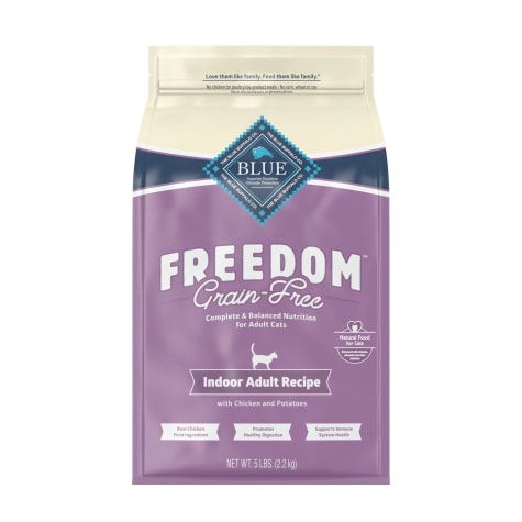 Blue Buffalo Blue Freedom Grain-Free Adult Indoor Chicken Recipe Dry Cat Food