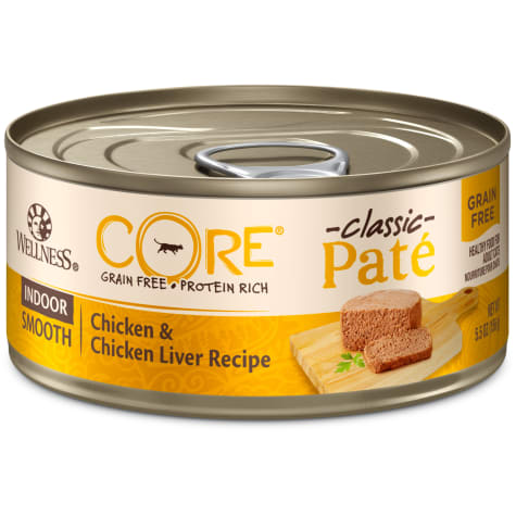 Wellness CORE Natural Grain Free Wet Chicken & Chicken Liver Pate Indoor Food