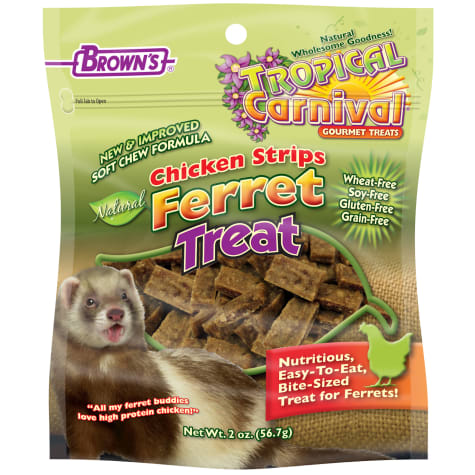 Brown's Tropical Carnival Chicken Strips Ferret Treats