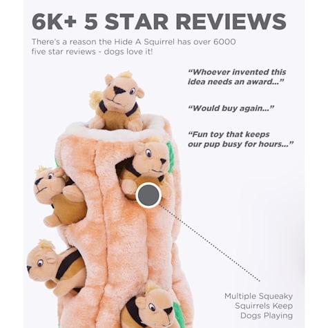 Outward Hound Ginormous Hide A Squirrel Plush Dog Toy