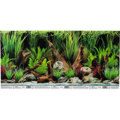 Hagen Marina Reversible Aquarium Background in Planted Oasis/Slate Wall