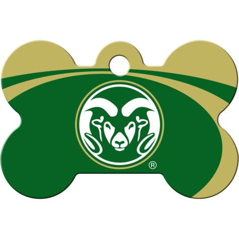 Quick-Tag Colorado State Rams NCAA Bone Personalized Engraved Pet ID Tag, Large