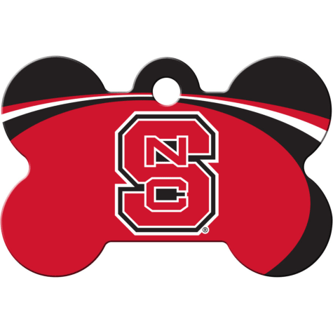 Quick-Tag North Carolina State NCAA Bone Personalized Engraved Pet ID Tag, Large