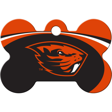 Quick-Tag Oregon State NCAA Bone Personalized Engraved Pet ID Tag, Large