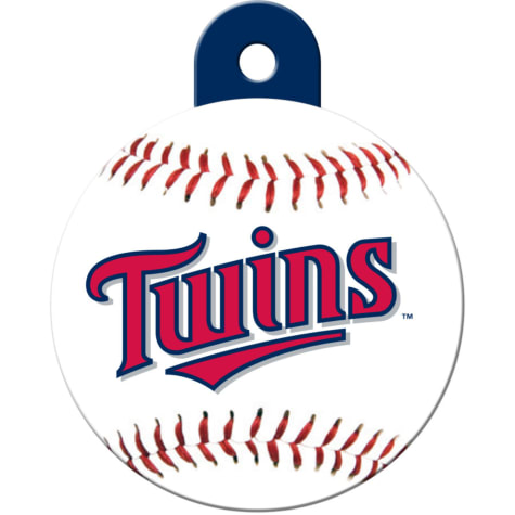 Quick-Tag Minnesota Twins MLB Personalized Engraved Pet ID Tag, Large